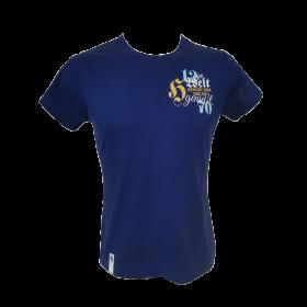 T-shirt Hirter Die Welt blau Damen